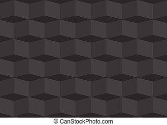 dimentional, tres, profundo, gris, plano de fondo, geométrico