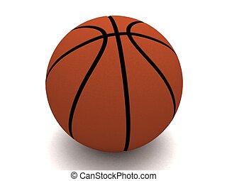 dimenzionális, labda, három, kosár