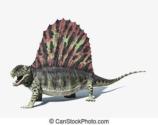 Dimetrodon dinosaur. very detailed and scientifically...