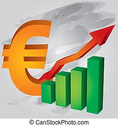 diminuição, dólar, nós