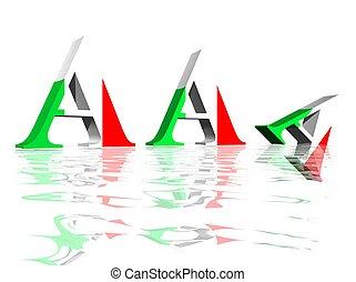 Diminution of AAA italian rating - Three A capital letters...