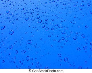 diminuto, gotas del agua