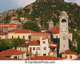 Dimitsana town in Peloponnese Greece