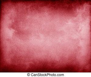 dimma, på, röd