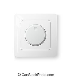 Dimmer power switch, realistic 3d object