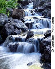dimmig, vattenfall