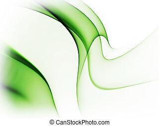 dinámico, extracto verde, plano de fondo, blanco