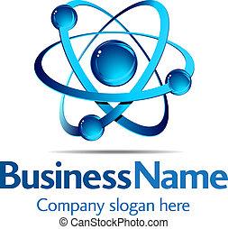 dinámico, logotipo