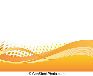 dinámico, naranja, swoosh, plano de fondo