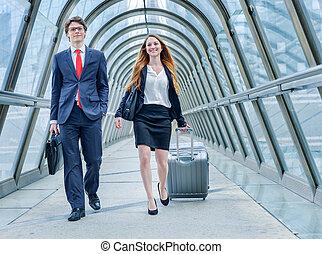dinâmica, executivos, júnior, viagem negócios