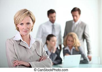 dinâmico, reunião, negócio
