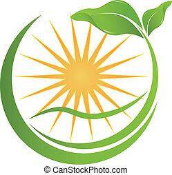din, hälsa, logo, natur, företag