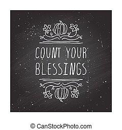 din, -, räkning, typografiska, element, välsignelser