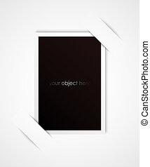 din, ram, objekt, foto