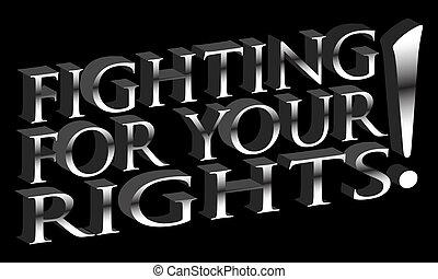 din, stridande, rättigheten