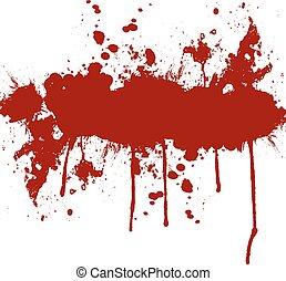 din, vektor, stänka ner, utrymme, bläck, bakgrund, text., röd, design, illustration