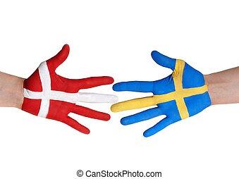 dinamarca, y, suecia