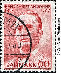 dinamarquês, archdeacon, theologian, hans, cristão, era,...