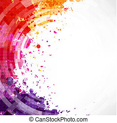 Dinamic Watercolor Blot Background With Gradient Mesh, ...