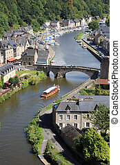 Dinan on the Rance, Brittany, France - Medieval city of ...