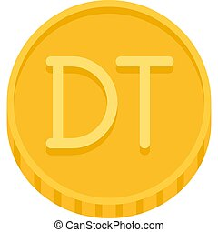 dinar, moneta, tunisino, valuta, icona, tunisia