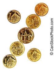 dinar, pièces, serbian