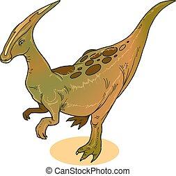 dinasour, parasaurolophus