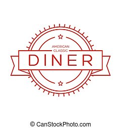 Dine vintage stamp sign