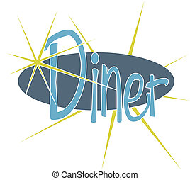 A retro style diner sign