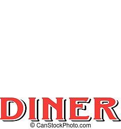 Diner Cafe Restaurant Sign 1950s