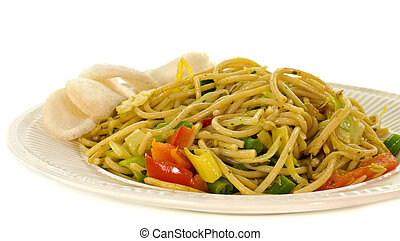 diner dish with noodles