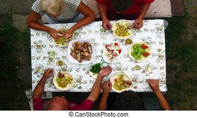 diner, gezin