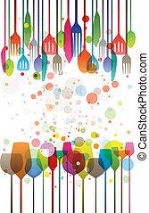 diner, kleurrijke