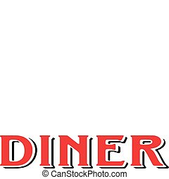 diner, koffiehuis, restaurant, meldingsbord, 1950s