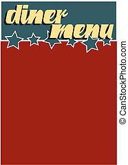 Diner Menu - A vintage Americana style diner menu template
