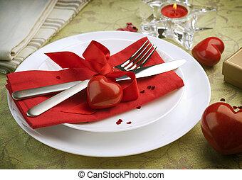 diner, romantische, valentijn