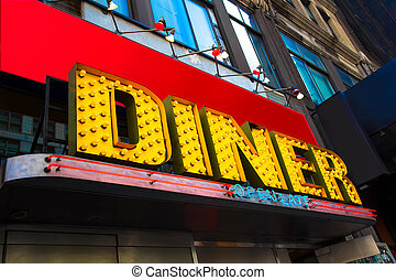 Diner Sign - Vibrant and colorful retro diner sign
