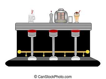 diner, toonbank