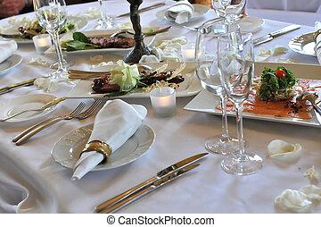 diner, trouwfeest
