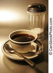 Hercules vitrified restaurant, ware, coffee cup and sugar dispenser