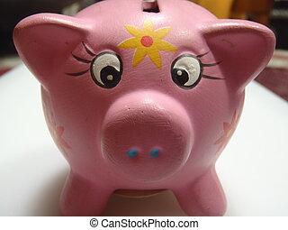 dinero, ahorro, cerdo