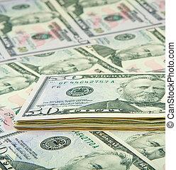 dinero americano, cicatrizarse