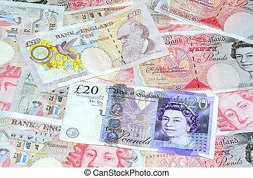 dinero, británico