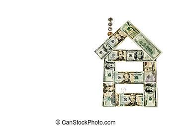 dinero, casa