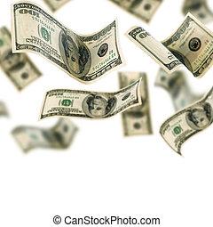 dinero cayendo