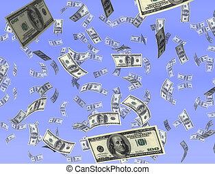dinero, cielo