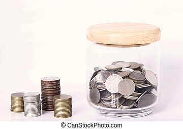 dinero, coins, ahorro
