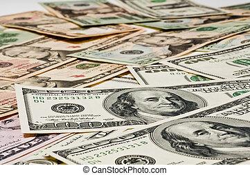 dinero, concept., tabla, empresa / negocio