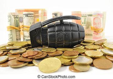 dinero, concepto, guerra