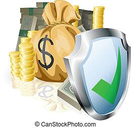 dinero, concepto, seguro